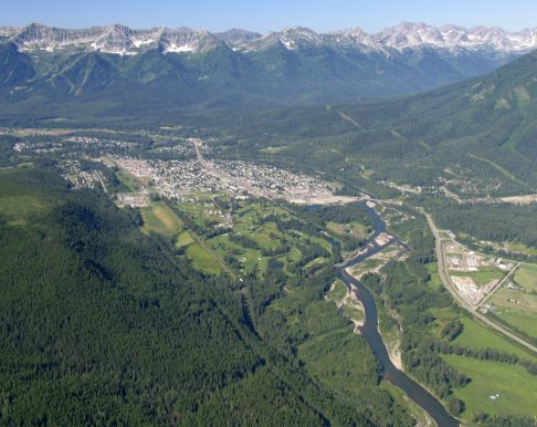 Aerial view of Crowsnest Pass